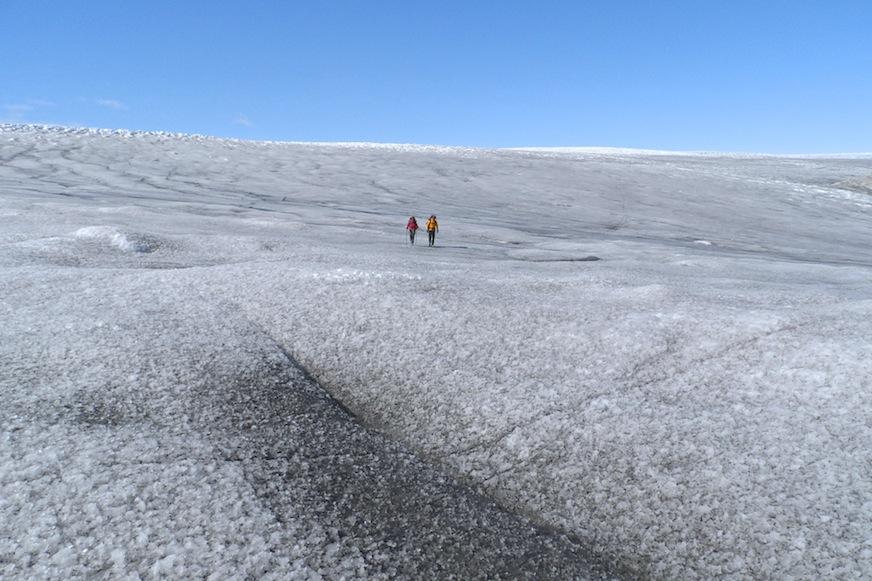 Descripción: Descenso del inlandis en la zona del fiordo de Qaleragdlit, Agosto 2013. Categoría: Fotaza