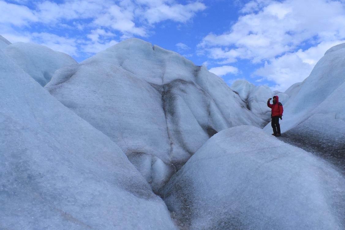 Descripción: Ascensión al glaciar frente al campamento de Fletanes en Qaleragdlit, Agosto 2013. Categoría: Fotaza