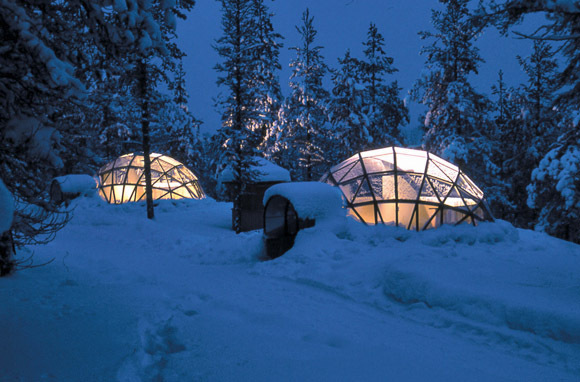 Igloo Village en el Hotel Kakslauttanen, Saariselka, Finlandia